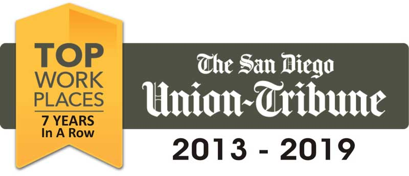The San Diego Union Tribune: Top Workplace 7 Years in a Row