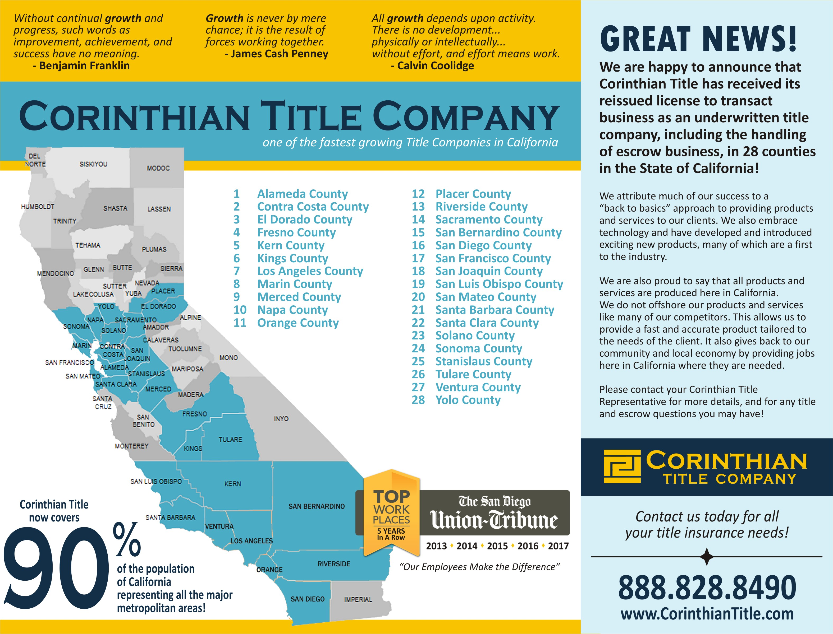 Corinthian Title Coverage Map