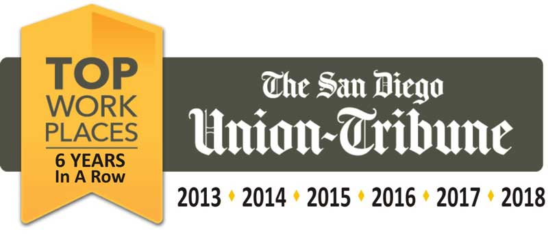 The San Diego Union Tribune: Top Workplace 6 Years in a Row